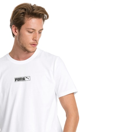 Graphic Logo No. 2 Short Sleeve Men's Tee, Puma White, small-IND