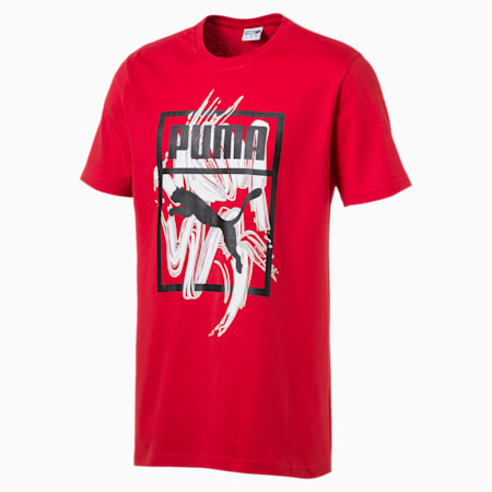 Graphic Logo Brush Tee, High Risk Red, small-SEA