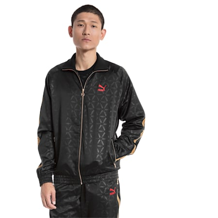 LUXE PACK AOP Men's Track Jacket, Puma Black-AOP, small-SEA
