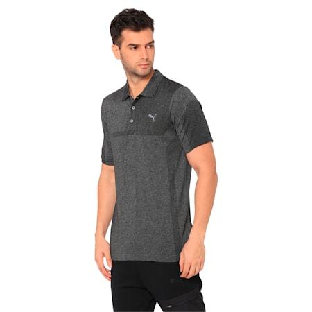 evoKNIT Breakers Men's Golf Polo, Puma Black Heather, small-IND