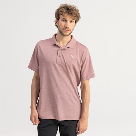 Grill to Green Men's Golf Polo, Rhubarb Heather, small