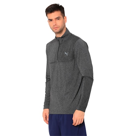 Evoknit 1/4 Zip, Puma Black Heather, small-IND