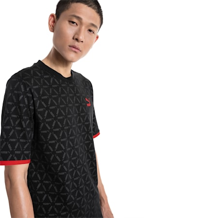 LUXE PACK All Over Print Men's Tee, Puma Black-AOP, small-SEA