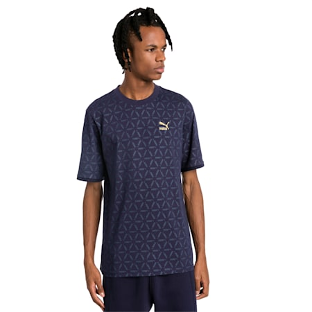 LUXE PACK All Over Print Men's Tee, Peacoat-AOP, small-SEA