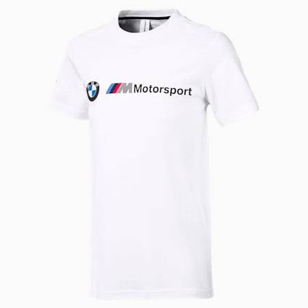 BMW M Motorsport Logo Jungen T-Shirt, Puma White, small
