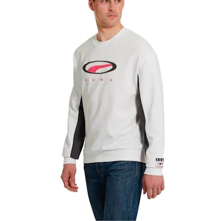 '90s Retro Men's Crewneck Sweatshirt, Puma White, small