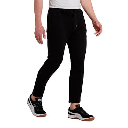 '90s Retro Men's Sweatpants, Cotton Black, small