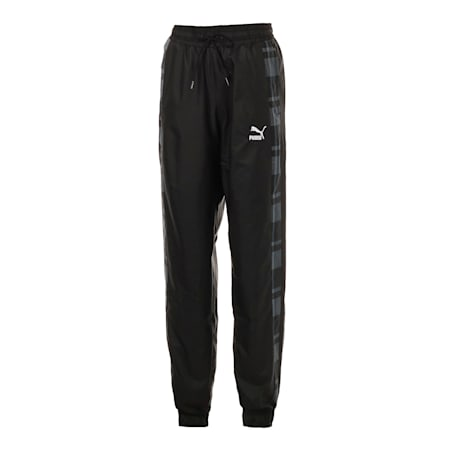 CHECK WOVEN PANTS, Puma Black-Check, small-JPN
