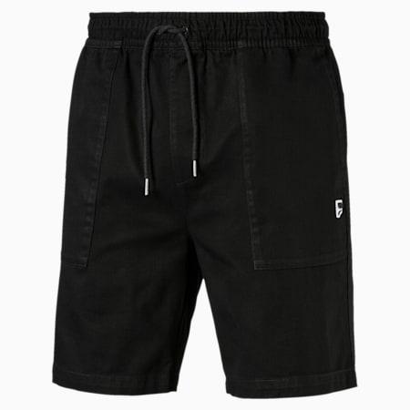 DOWNTOWN ショーツ, Cotton Black, small-JPN