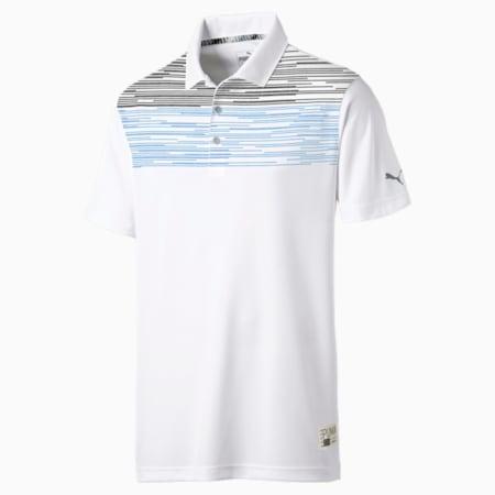 Pin High Golf Polo, Bleu Azur, small-SEA