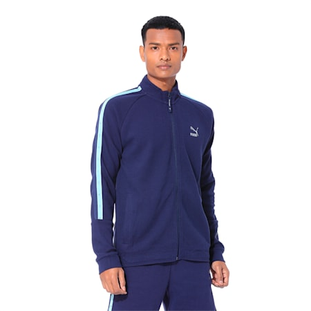 PUMA x Virat Kohli Men's Sweat Jacket, Peacoat, small-IND
