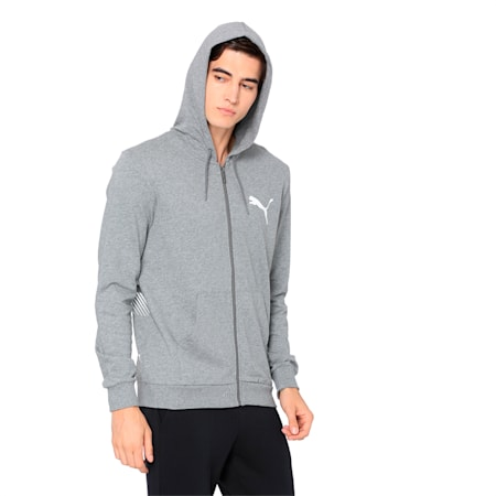 Summer Logo FZ Hoodie, Medium Gray Heather, small-IND