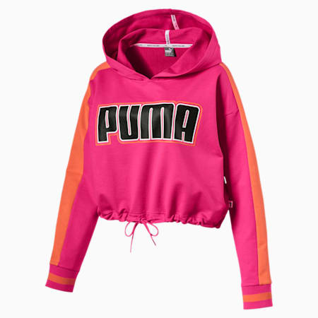 Women's Rebel Reload Cropped Hoodie, Fuchsia Purple, small-SEA