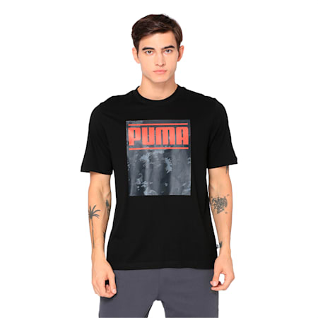 Graphic Printed Men's T-shirt, Cotton Black, small-IND