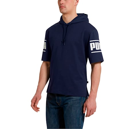 Camo Pack Men's Short Sleeve Hoodie, Peacoat, small
