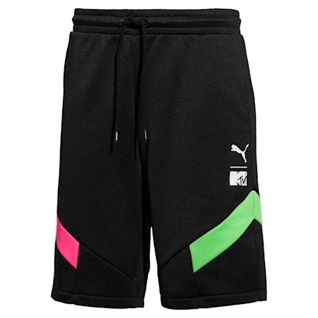 PUMA x MTV MCS Men's Shorts, Puma Black, small-IND