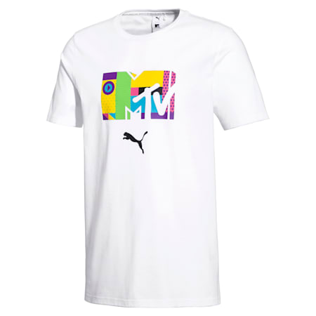 T-Shirt PUMA x MTV pour homme, Puma White, small