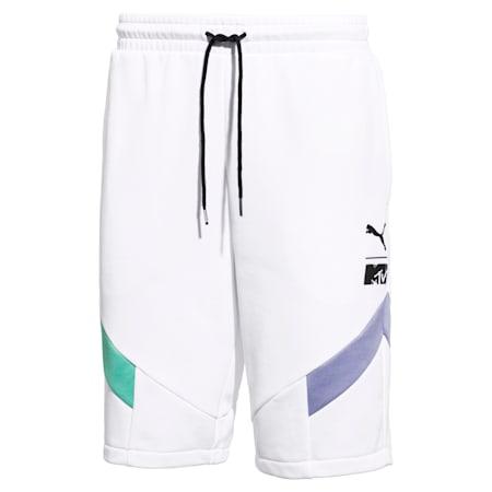 PUMA x MTV MCS Men's Shorts, Puma White, small-SEA