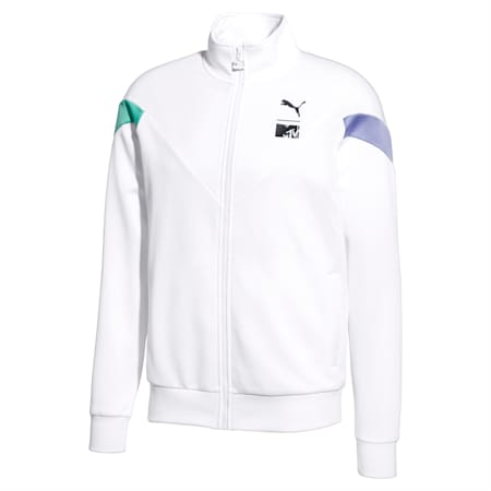 PUMA x MTV MCS Men's Track Jacket, Puma White, small-SEA