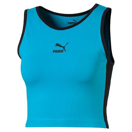 Camisola curta de alças Classics T7 para mulher, Caribbean Sea, small