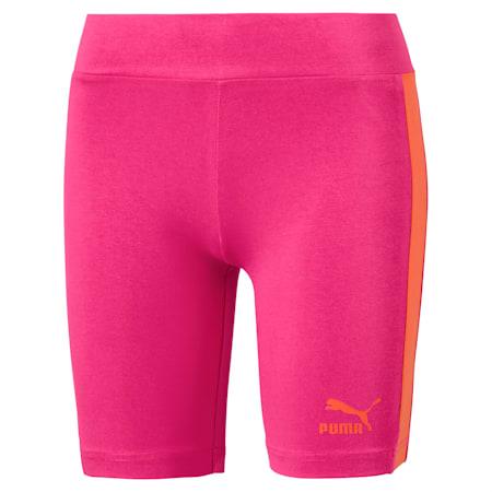 Shorts da ciclismo T7 Classics donna, Fuchsia Purple, small