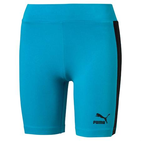 Shorts da ciclismo T7 Classics donna, Caribbean Sea, small