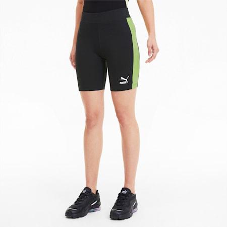 Classics Women's Biker Shorts, Puma Black-Sunny Lime, small