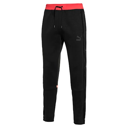 PUMA 91074 Men's T7 Track Pants, Puma Black, small-SEA