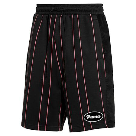 PUMA 91074 Men's Striped Shorts, Puma Black--AOP, small-SEA