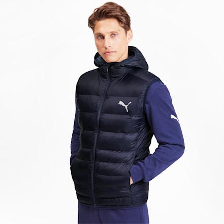 Ultralight Sleeveless Hooded Men's Vest, Peacoat, small
