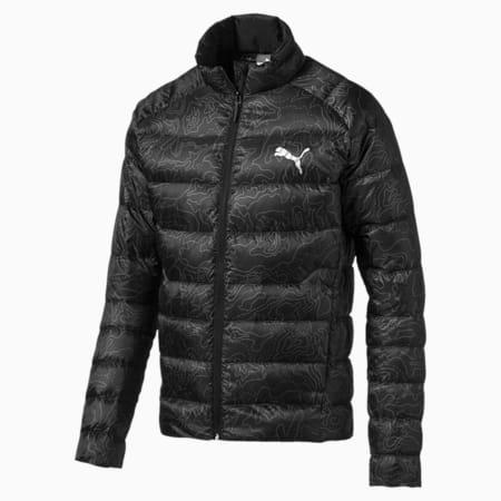PWRWarm packLITE 600 Down AOP Men's Jacket, Puma Black, small-IND