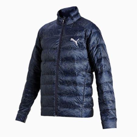PWRWarm packLITE 600 Down AOP Men's Jacket, Peacoat, small-IND