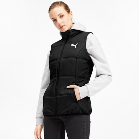 Essentials Padded Women's Vest, Puma Black, small-IND