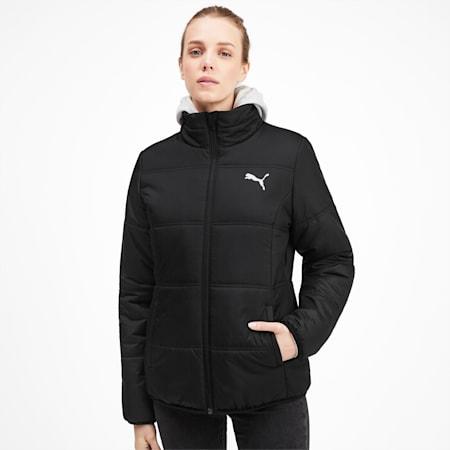 Essentials Women's Padded Jacket, Puma Black, small