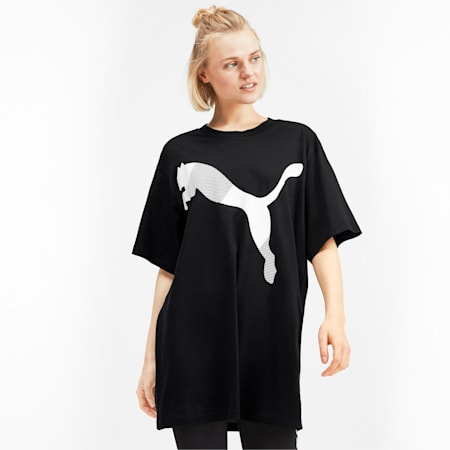 Modern Sport Graphic Short Sleeve Women's Tee, Puma Black, small-IND