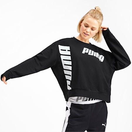 Modern Sport dryCELL Crewneck Women's Long Sleeve Sweater, Puma Black, small-IND
