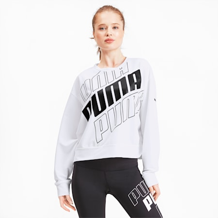 Modern Sports Women's Crewneck Sweatshirt, Puma White, small