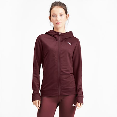 Modern Sports Women's Full Zip Logo Hoodie, Vineyard Wine, small