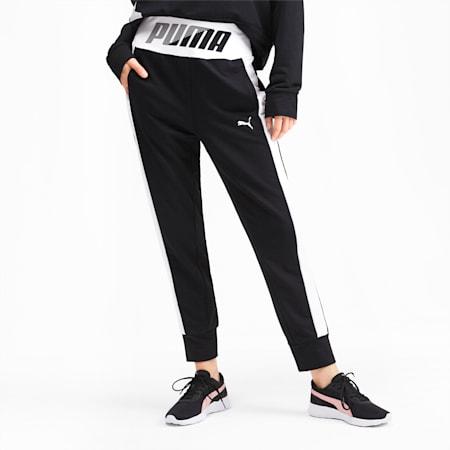 Modern Sport Graphic Women's Track Pants, Puma Black, small-SEA