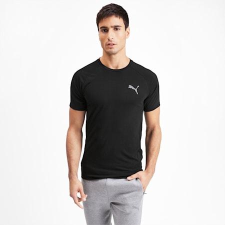 Evostripe Reflective Tec Short Sleeve Men's T-Shirt, Puma Black, small-IND
