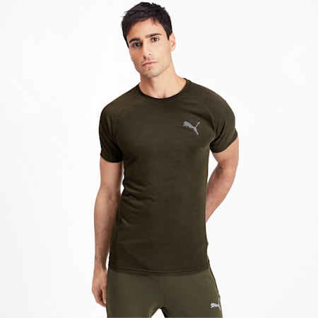 Evostripe Reflective Tec Short Sleeve Men's Tee, Forest Night, small-IND