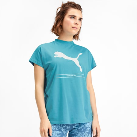 NU-TILITY Graphic Short Sleeve Women's Tee, Milky Blue, small-SEA