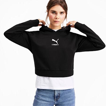 Chaqueta con capucha NU-TILITY para mujer, Puma Black, pequeño