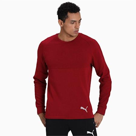 Evostripe Crew Men's Sweater, Rhubarb, small-IND