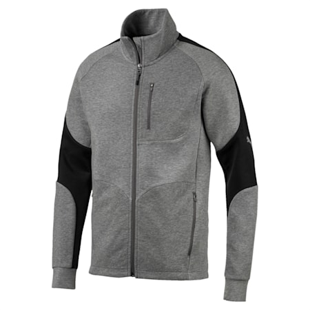 Evostripe Long Sleeve Men's Jacket, Medium Gray Heather, small-IND