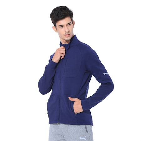 Evostripe Long Sleeve Men's Jacket, Peacoat, small-IND