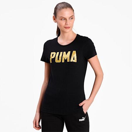 Athletics Women's Crewneck T-Shirt, Puma Black, small-IND