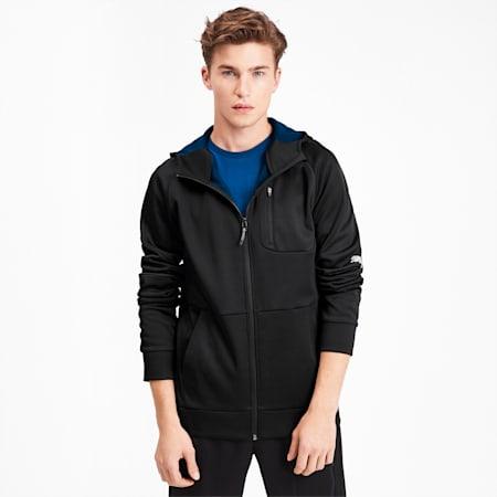 Evostripe Warm Men's Full Zip Hoodie, Puma Black, small