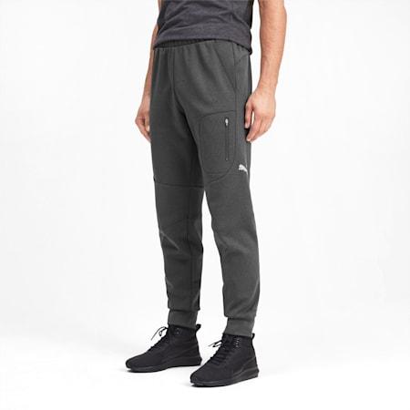 Evostripe Warm Men's Sweatpants, Dark Gray Heather, small-IND