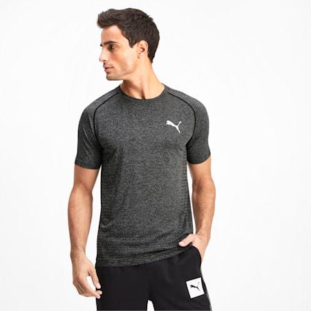 Tec Sports evoKNIT Men's Basic Tee, Puma Black, small-IND